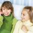 Teenage Girls Talking on Cell Phone